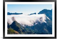 Clouds spill over Encumeada, Framed Mounted Print