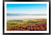 Morning mist, Loud valley 2, Framed Mounted Print