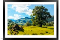 Langdale Pikes from Copt Howe 1, Framed Mounted Print