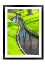 Greens at Keukenhof garden, Framed Mounted Print