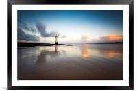 New Brighton lighthouse at sunrise, Framed Mounted Print