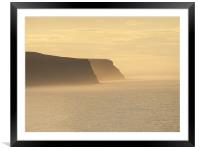 Whitby in Mist, Framed Mounted Print
