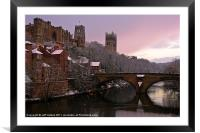 Durham Castle and Cathedral, Framed Mounted Print