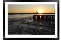 Thames at Sunset, Framed Mounted Print