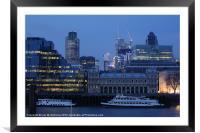 London City Skyline, Framed Mounted Print