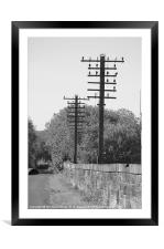 Telegraph Poles, Framed Mounted Print