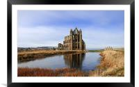 Whitby Abbey in North Yorkshire, Framed Mounted Print
