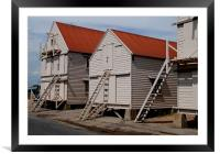 The old sail lofts at Tollesbury, Essex, Framed Mounted Print