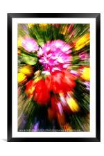 FLOWER POWER, Framed Mounted Print