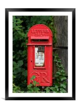 AN OLD POST BOX, Framed Mounted Print