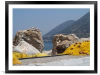 Rocks and Nets , Framed Mounted Print