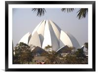 The Lotus Temple, Delhi , Framed Mounted Print