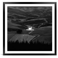 Landscape - Corgaff castle , Framed Mounted Print