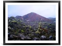 Iceland - volcanic landscape , Framed Mounted Print