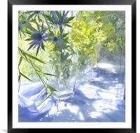 Blue Light , Framed Mounted Print