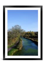 by the water walk , Framed Mounted Print