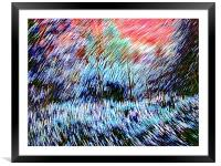 Edge Of The Field , Framed Mounted Print