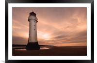 Dusk at New Brighton, Framed Mounted Print