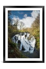 Swallow Falls Snowdonia, Framed Mounted Print