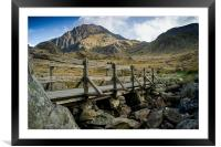 The Bridge to Tryfan, Framed Mounted Print