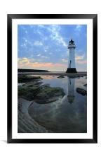 Lighthouse at Perch Rock, Framed Mounted Print