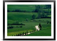 Tuscan biker , Framed Mounted Print