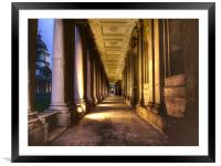 Greenwich Royal Naval College HDR, Framed Mounted Print