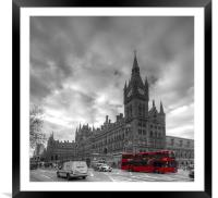 St Pancras Station BW, Framed Mounted Print