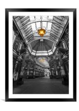 Leadenhall Market London, Framed Mounted Print