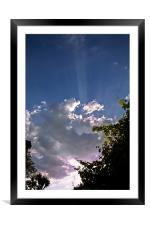 Clouds in the evening, Framed Mounted Print