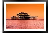 West Pier Brighton, Framed Mounted Print