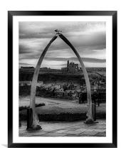 Whitby Whale Bones, Framed Mounted Print
