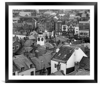 Whitby Roof Tops, Framed Mounted Print