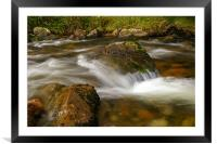 flowing river, Framed Mounted Print