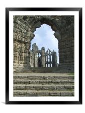 Whitby Abbey , Framed Mounted Print