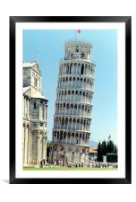 Pizza tower , Framed Mounted Print