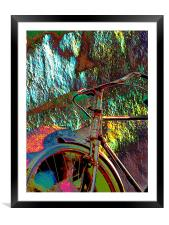 Old Bicycle, Framed Mounted Print