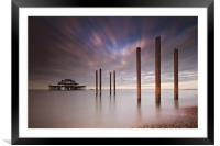 West Pier Remains, Framed Mounted Print