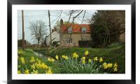 England Springtime , Framed Mounted Print