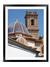Church dome and tower, Framed Mounted Print