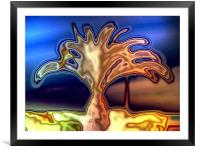 Palm Tree, Framed Mounted Print