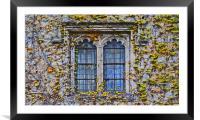 Hever Castle Window, Framed Mounted Print