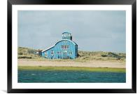 Norfolk Beach Building., Framed Mounted Print