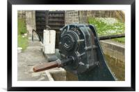 Detail of a canal lock paddle, Framed Mounted Print