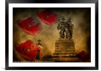 Armistis Day, Framed Mounted Print