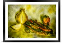Hot and Spicy Chillies, Framed Mounted Print
