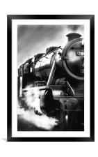 Black and White Train, Framed Mounted Print