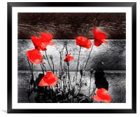 Red City Blooms, Framed Mounted Print