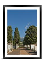 A Grave Perspective, Framed Mounted Print