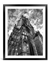 York minster, Framed Mounted Print